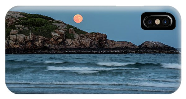 The Strawberry Moon Rising Over Good Harbor Beach Gloucester Ma Island IPhone Case