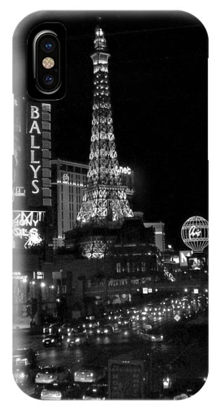 The Strip By Night B-w IPhone Case