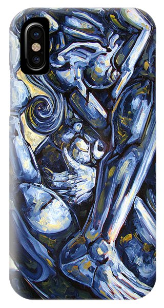 Abstract Figurative iPhone Case - The Struggle by Darwin Leon