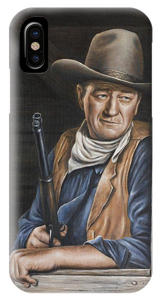 IPhone Case featuring the painting The Stuff Men Are Made Of by Kim Lockman