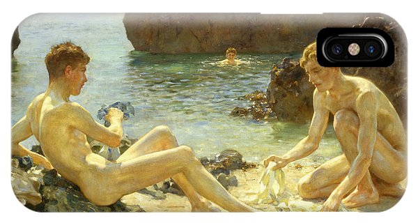 Nudes iPhone X Case - The Sun Bathers by Henry Scott Tuke