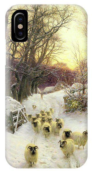Sun iPhone Case - The Sun Had Closed The Winter's Day  by Joseph Farquharson