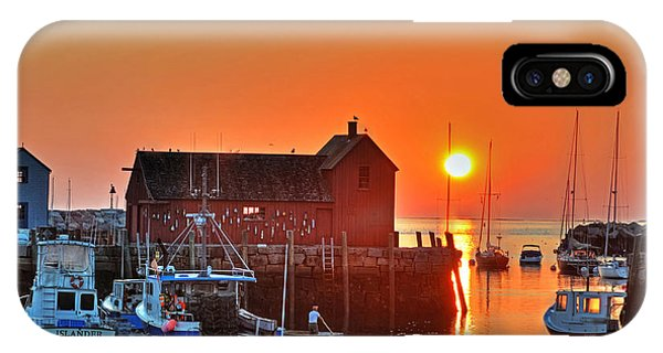 The Sun Rising By Motif Number 1 In Rockport Ma Bearskin Neck IPhone Case