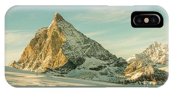 The Sun Sets Over The Matterhorn IPhone Case