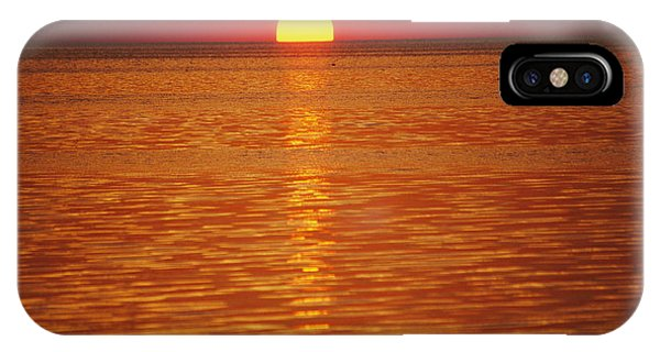 The Sun Sinks Into Pamlico Sound Seen IPhone Case