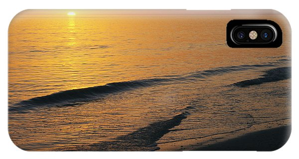 The Sun Sinks Into The Gulf Of Mexico IPhone Case