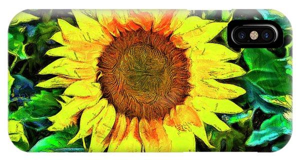 Sunflower iPhone Case - The Sunflower by Mark Kiver