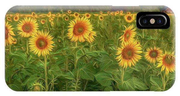 Sunflower iPhone Case - The Sunniest Field by Veikko Suikkanen