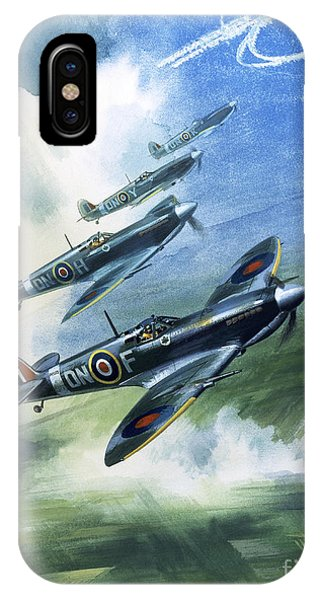 Airplane iPhone Case - The Supermarine Spitfire Mark Ix by Wilfred Hardy