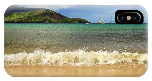 The Surf At Hanalei Bay IPhone Case