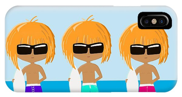 The Surfing Triplets IPhone Case