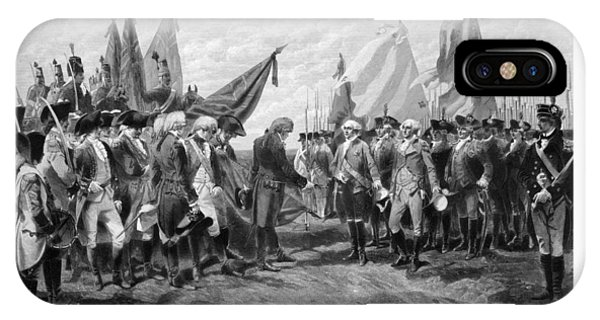 Washington iPhone Case - The Surrender Of Cornwallis At Yorktown by War Is Hell Store