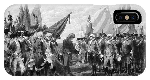 George Washington iPhone Case - The Surrender Of Cornwallis At Yorktown by War Is Hell Store
