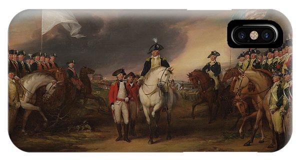 Yorktown iPhone Case - The Surrender Of Lord Cornwallis At Yorktown, Oct 19, 1781 by John Trumbull
