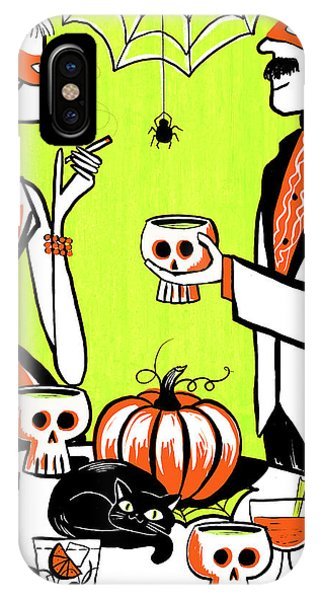 Swanky iPhone Case - The Swankiest Halloween Party On The Block by Little Bunny Sunshine