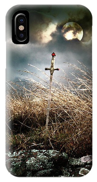 Sword Under A Full Moon IPhone Case