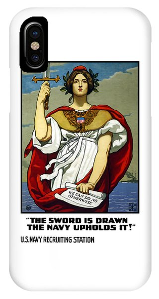 The Sword Is Drawn - The Navy Upholds It IPhone Case