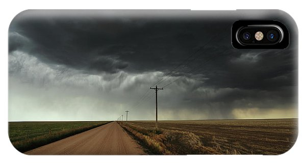 Middle Of Nowhere iPhone Case - The Symmetry Of The Plains by Brian Gustafson