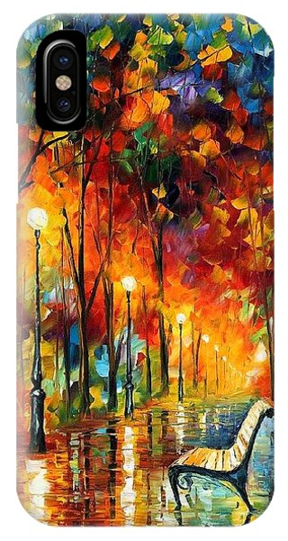 Afremov iPhone X Case - The Symphony Of Light by Leonid Afremov