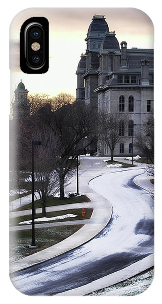 The Syracuse University Hall Of Languages Phone Case by Debra Millet