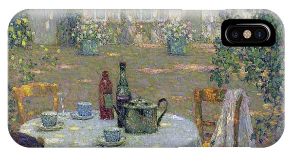 Garden iPhone X Case - The Table In The Sun In The Garden by Henri Le Sidaner