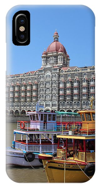 The Taj Palace Hotel And Boats, Mumbai IPhone Case
