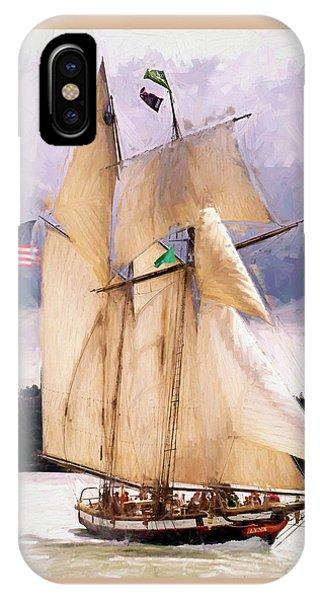 The Tall Ship The Lynx, Fine Art Print IPhone Case