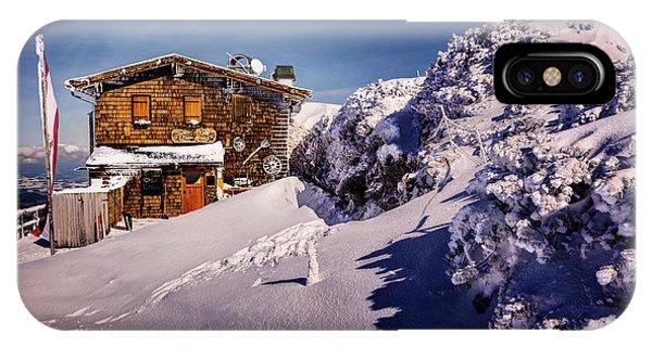 The Tavern On Untersberg Mountain Salzburg In Winter IPhone Case