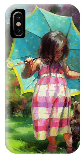 Child iPhone Case - The Teal Umbrella by Steve Henderson