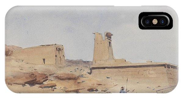 Pylon iPhone Case - The Temple Of Dendur Showing The Pylon And Terrace by Frederick Arthur Bridgman