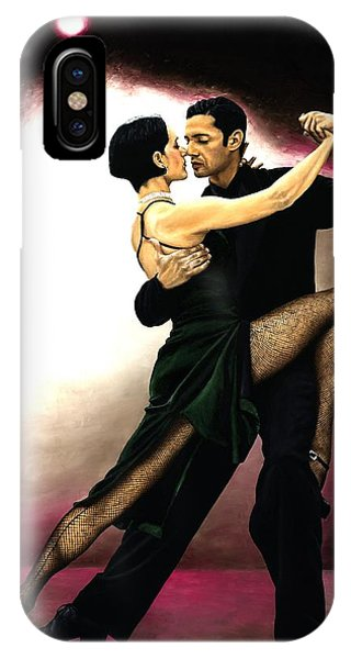 Tango iPhone Case - The Temptation Of Tango by Richard Young