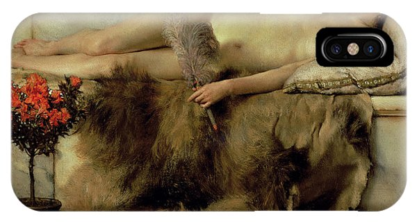 Relaxation iPhone Case - The Tepidarium by Sir Lawrence Alma-Tadema