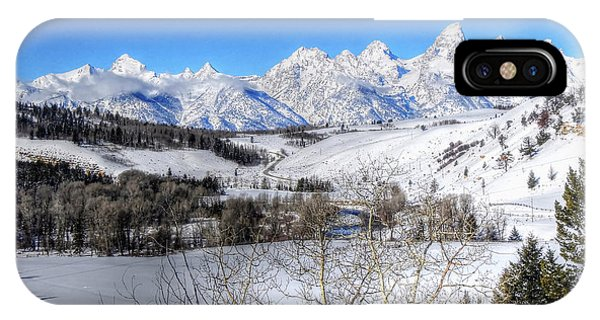 The Tetons From Gros Ventre Valley IPhone Case