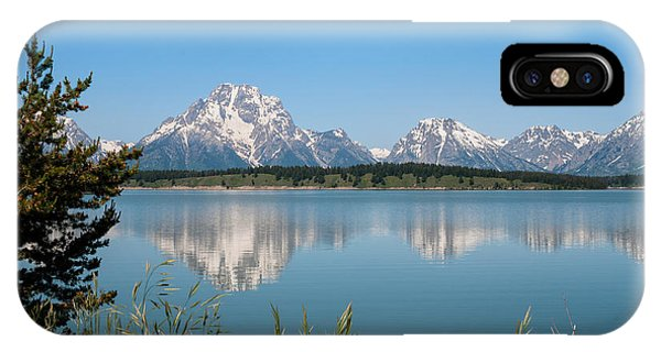 Teton iPhone Case - The Tetons On Jackson Lake - Grand Teton National Park Wyoming by Brian Harig