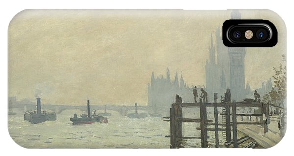 French Painter iPhone Case - The Thames At Westminster by Claude Monet