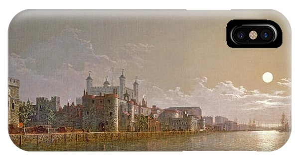 The Thames By Moonlight With Traitors' Gate And The Tower Of London IPhone Case