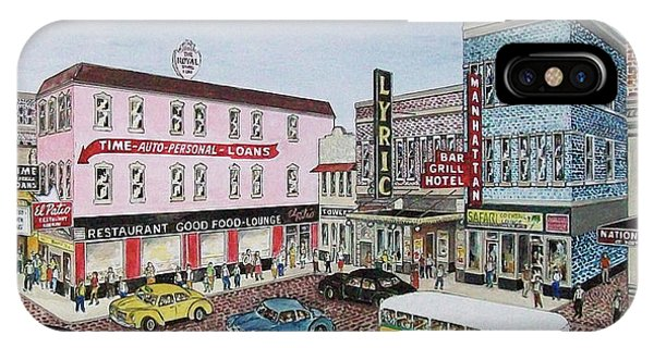 The Theater District Portsmouth Ohio 1948 IPhone Case