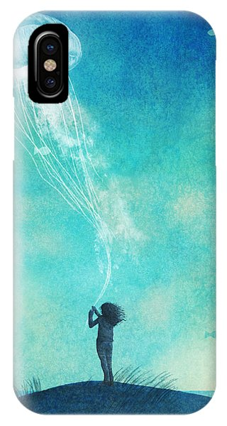 Sea iPhone X Case - The Thing About Jellyfish by Eric Fan