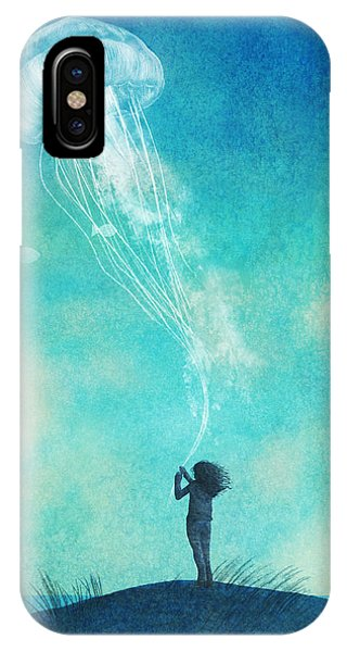 Cloud iPhone Case - The Thing About Jellyfish by Eric Fan