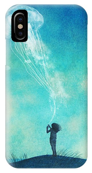 Sky iPhone Case - The Thing About Jellyfish by Eric Fan