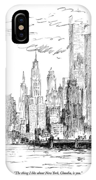 The Thing I Like About New York IPhone X Case
