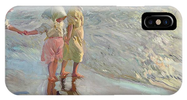 19th Century iPhone Case - The Three Sisters On The Beach by Joaquin Sorolla
