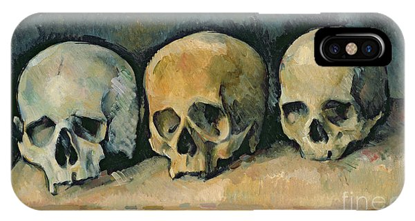 Life iPhone Case - The Three Skulls by Paul Cezanne