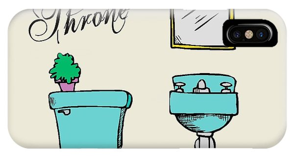 Toilet Humor iPhone Case - The Throne by Priscilla Wolfe