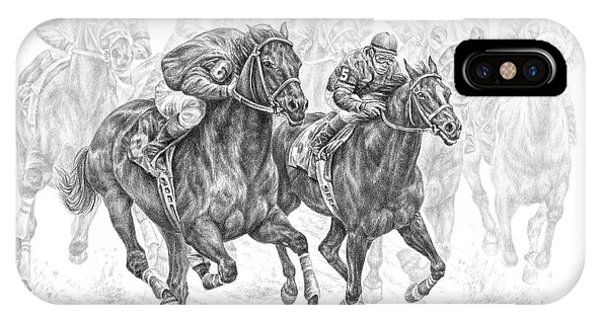 The Thunder Of Hooves - Horse Racing Print IPhone Case