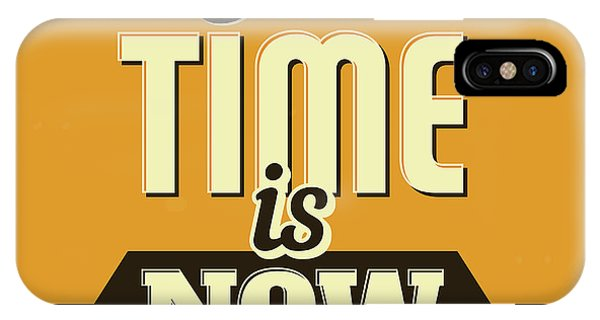 Results iPhone Case - The Time Is Now by Naxart Studio