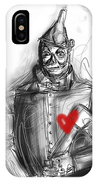 Wizard iPhone X / XS Case - The Tin Man by Russell Pierce
