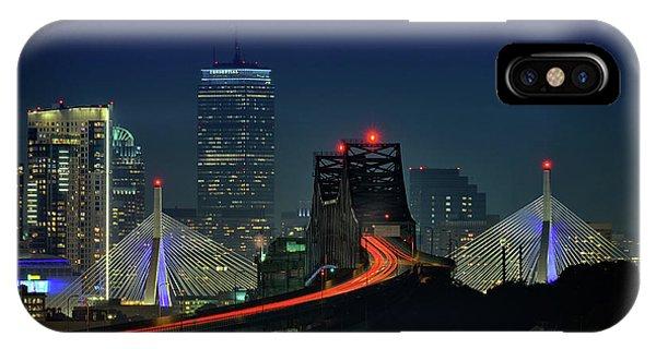 Zakim Bridge iPhone Case - The Tobin And Zakim Bridges by Rick Berk
