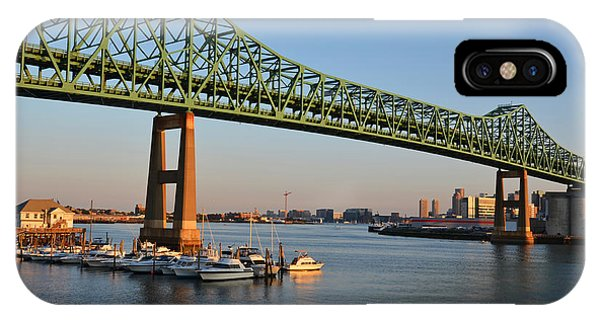 The Tobin Bridge Into The Sunset Chelsea Yacht Club IPhone Case