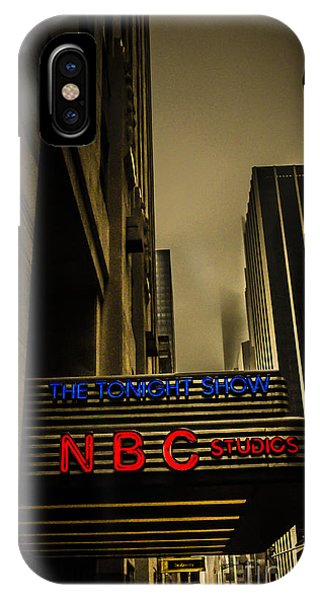 Rockettes iPhone Case - The Tonight Show Nbc Studios Rockefeller Center by Edward Fielding